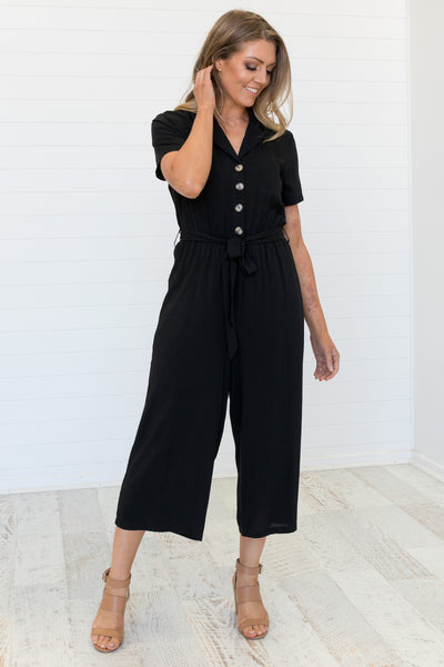 Evy Jumpsuit Black - Was $59.95