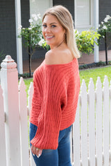 Jessie Knit - Coral Red