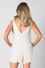 Noosa Playsuit - Natural