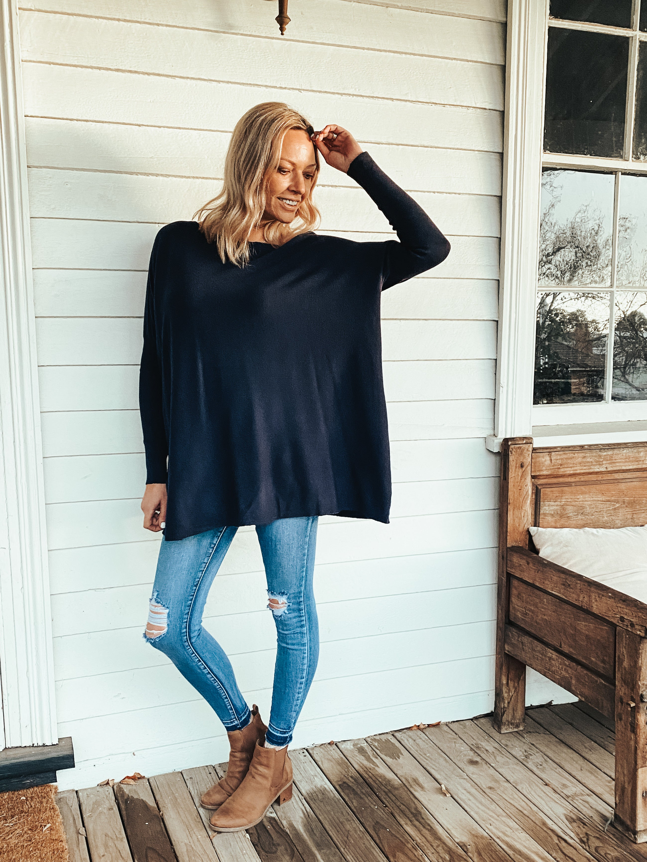 Blair Knit - Navy
