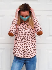 Carter Top - Pink Leopard