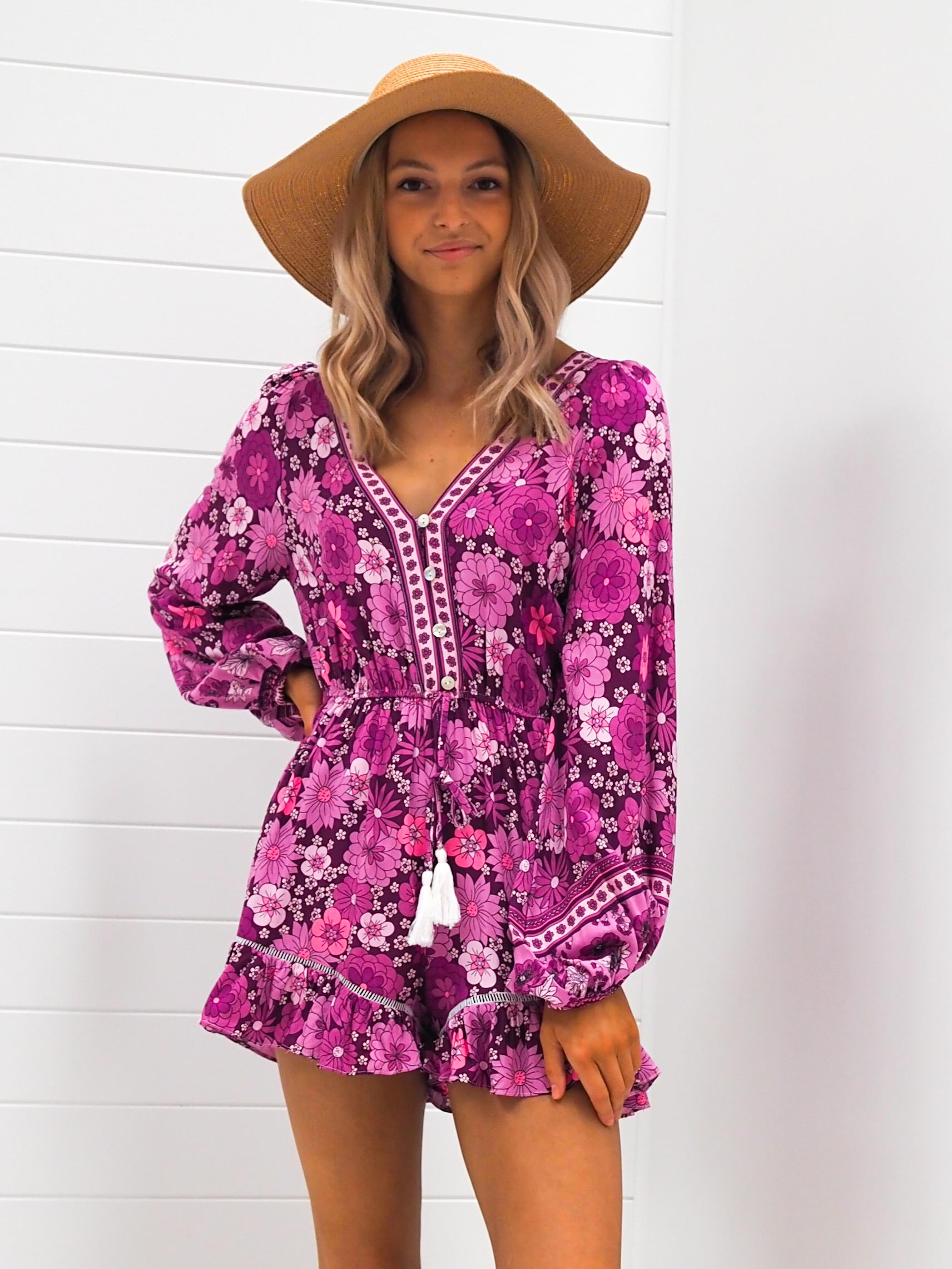 Harlow Playsuit - Purple