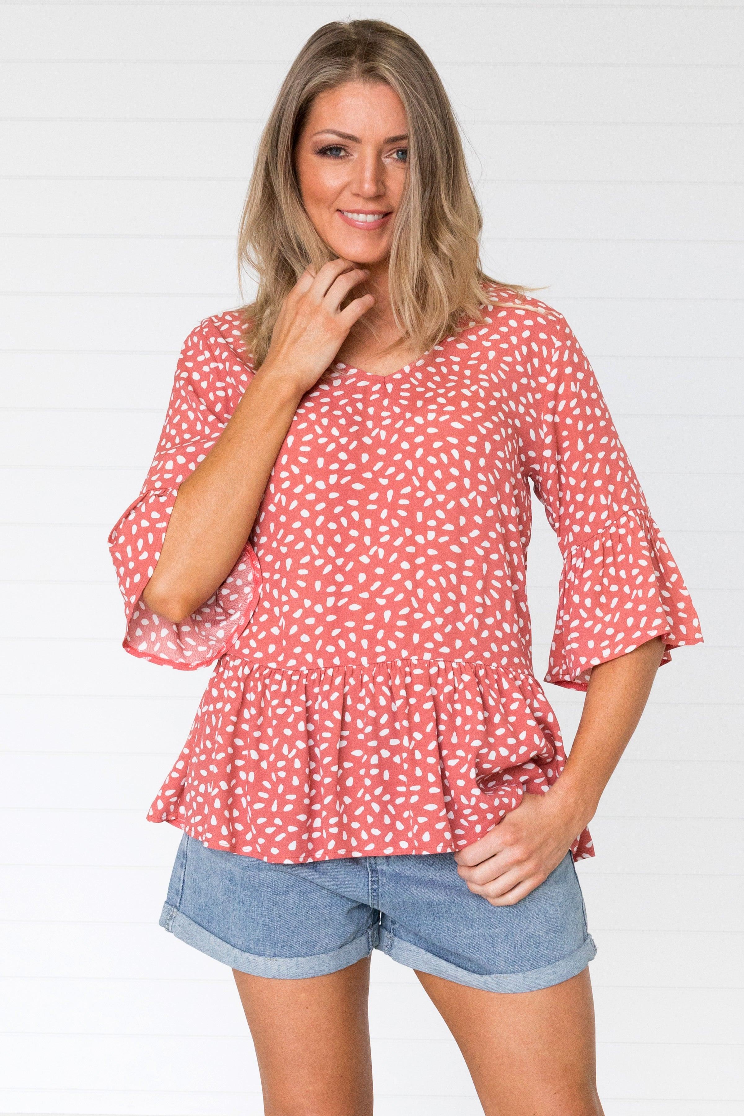 Sybelle Top - Terracotta