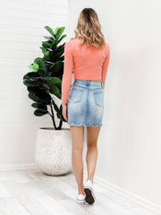Zak Skirt - Blue Denim