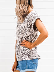 Shelly Tee - Pink Leopard