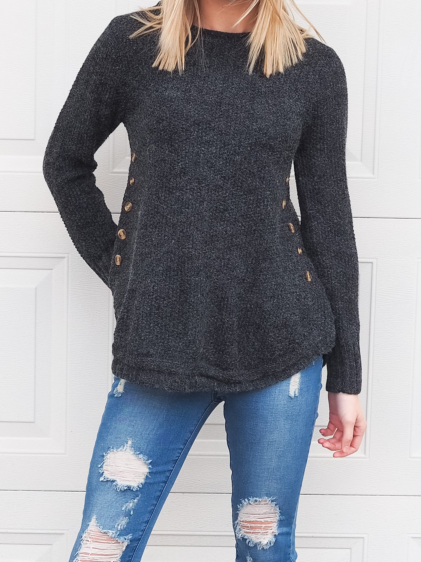 Kennedy Knit Charcoal - Was $49.95