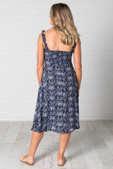 Stella Dress Navy - Was $49.95