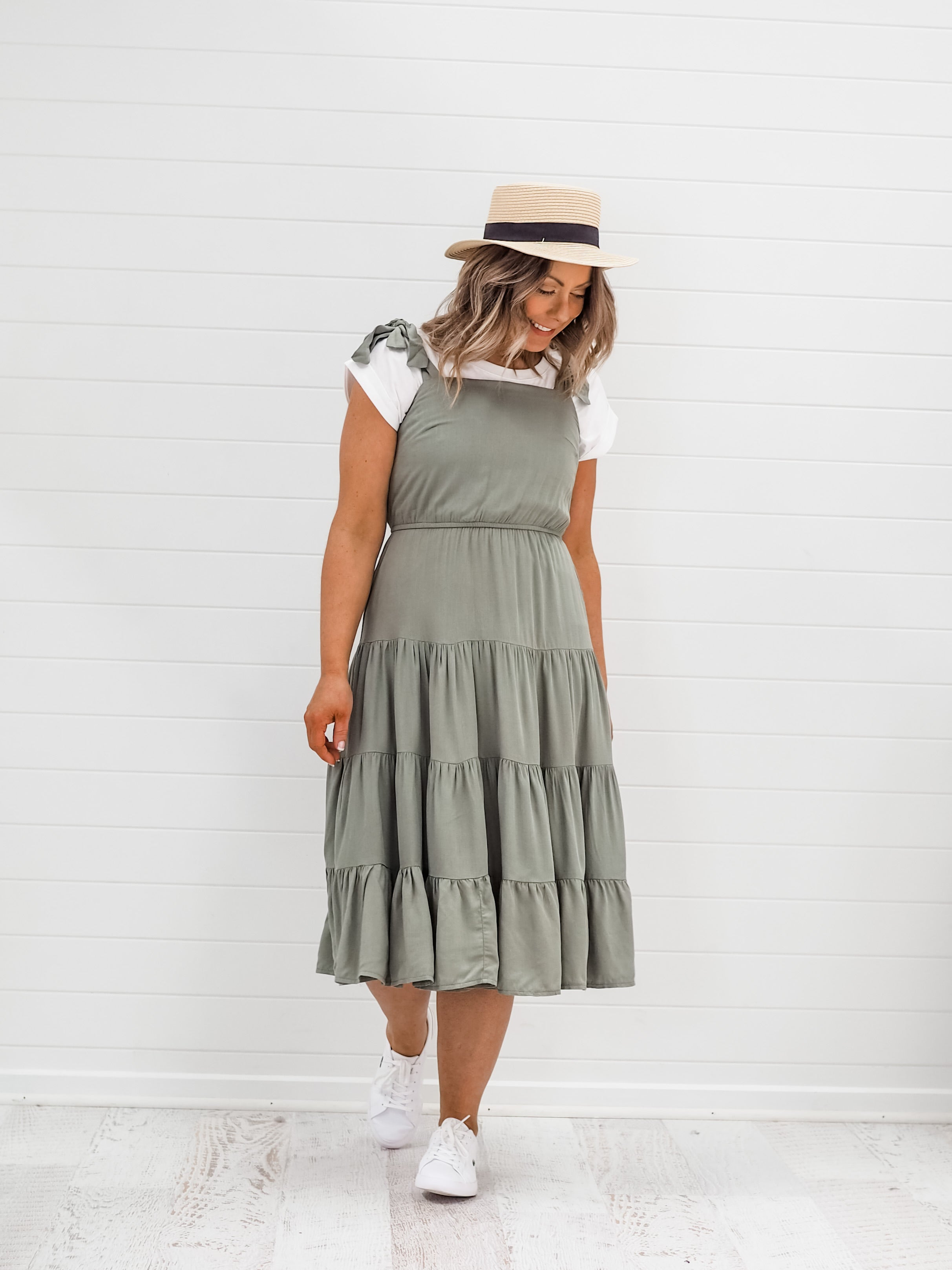 Polly Dress - Khaki
