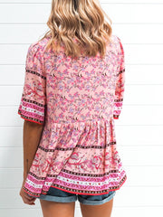 January Blouse - Multi Pink
