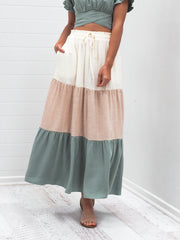 Sienna Skirt - Multi Green
