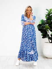 Imogen Maxi Dress - Blue Paisley