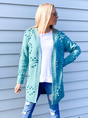 Sweetheart Cardi - Sea Green - Was $69.95