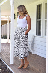 Nelly Skirt - Snow Leopard