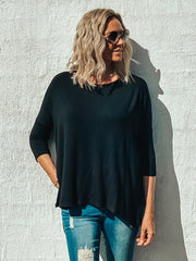 Lara Tee Black - Was $49.95
