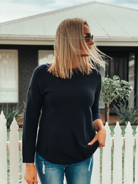 Saxon knit - Navy