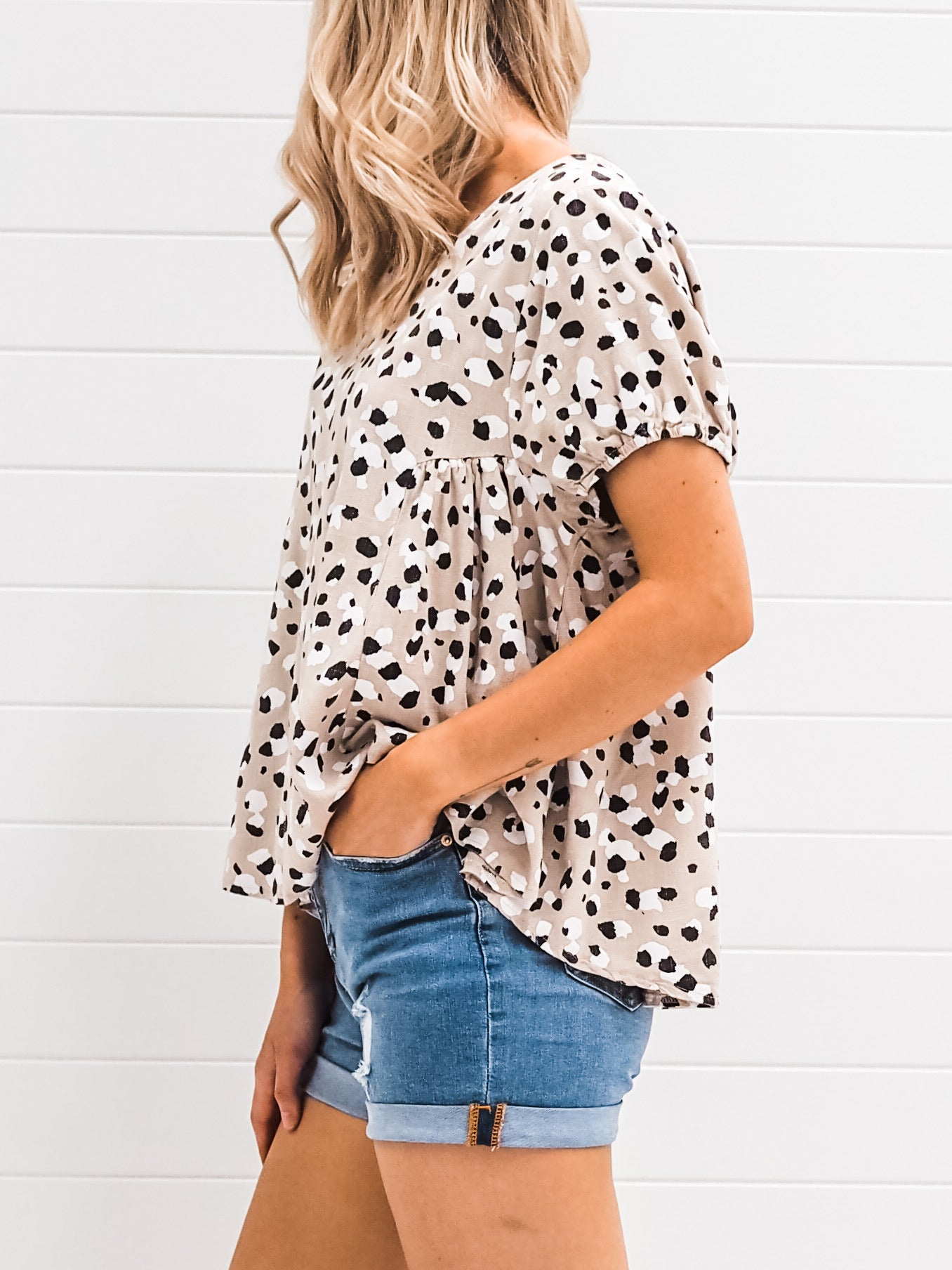 Tamsen Blouse - Taupe
