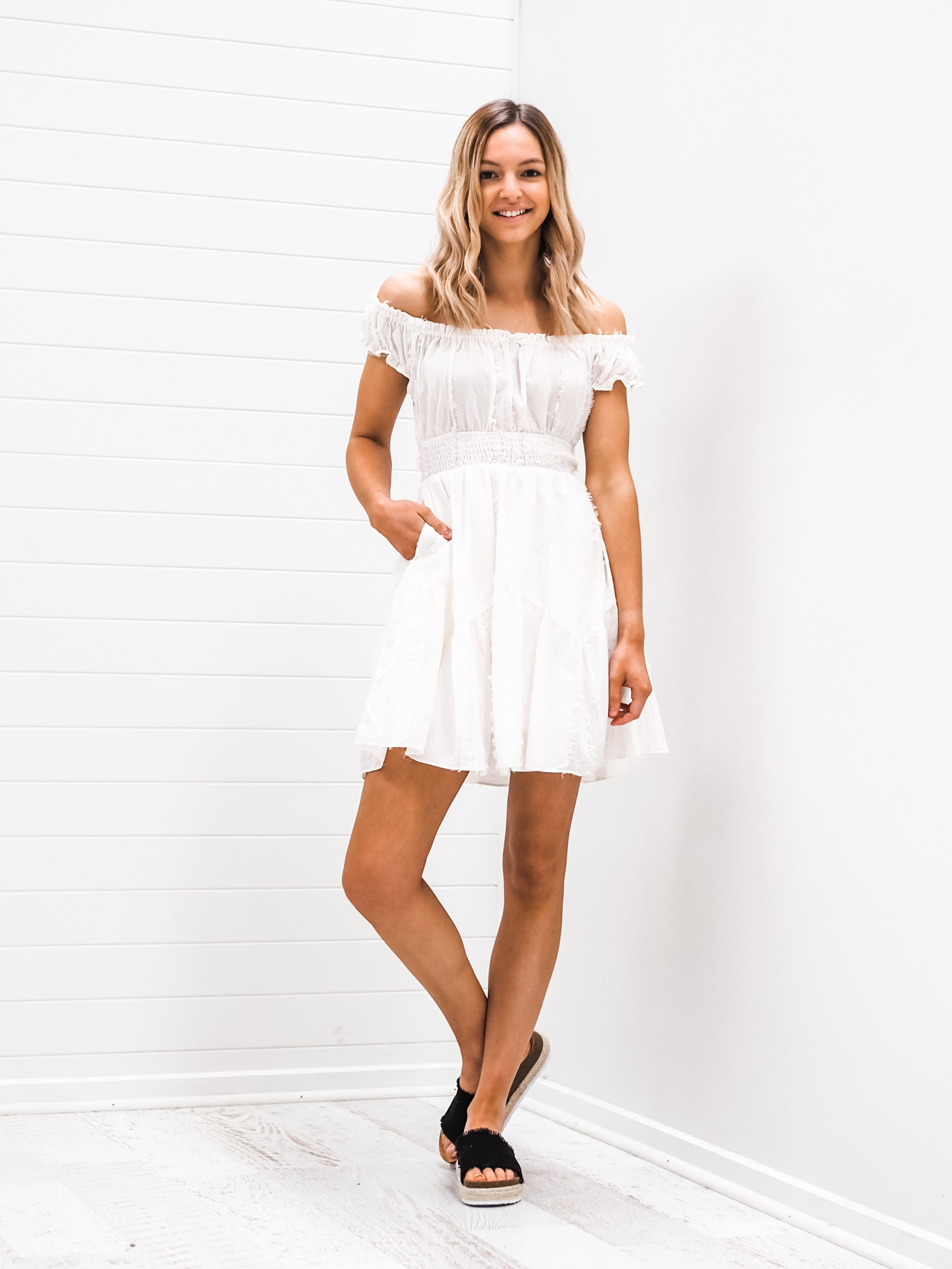 Isla Dress - Off white