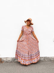 Madeleine Maxi Dress - Pink