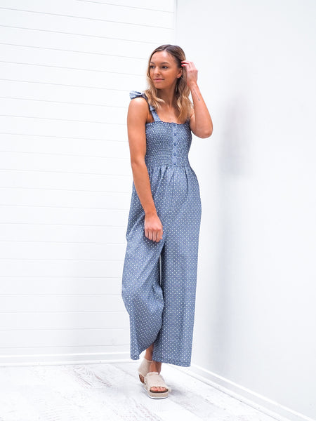 Allira Jumpsuit - Blue