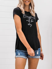 Everything Will Be Ok Tee - Black