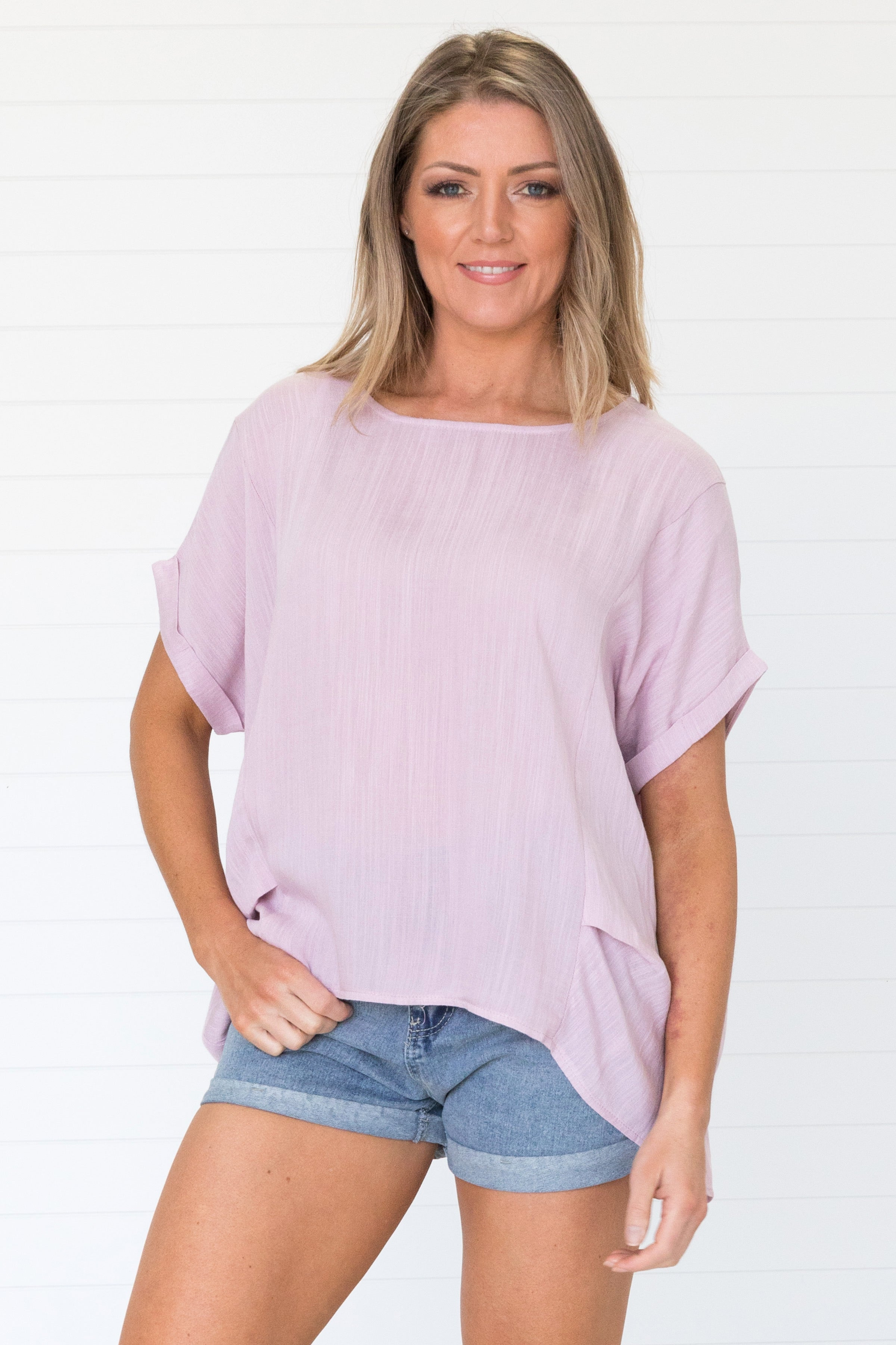 Trisha Tee Dusty Pink - Was $49.95