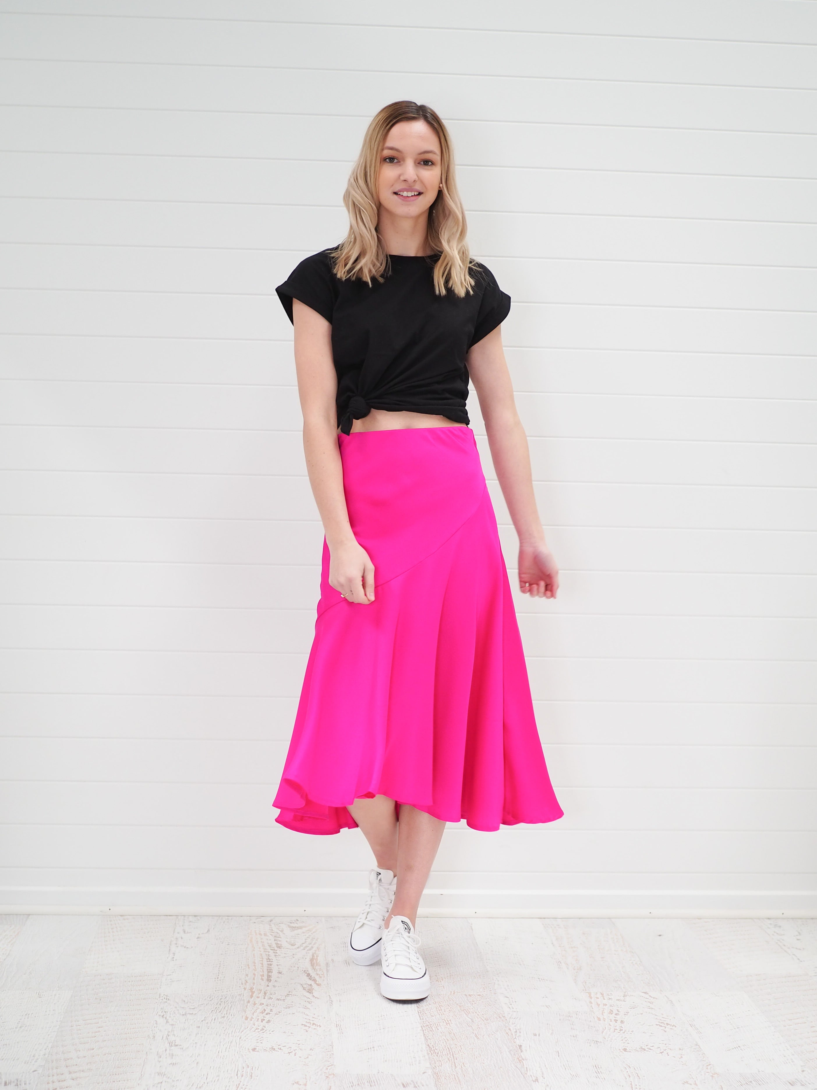 Romey Skirt - Hot Pink