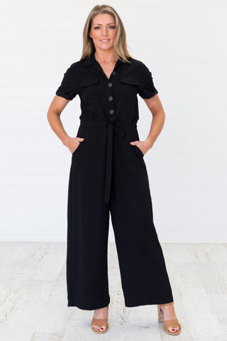 Nadia Jumpsuit Black - Was $69.95