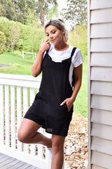 Heart Break Overalls  - Black