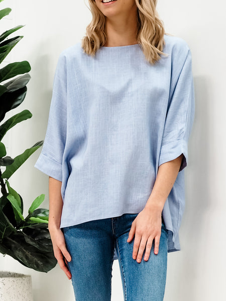 Genevieve Top - Light Blue