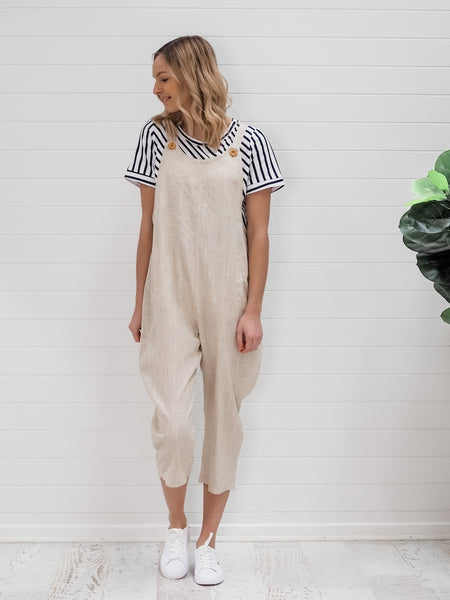 Briony Overalls - Natural