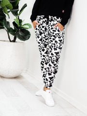 Edge Joggers - White and Black
