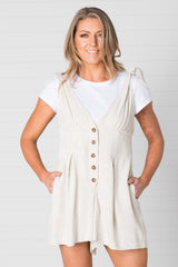 Noosa Playsuit Natural - Was $59.95