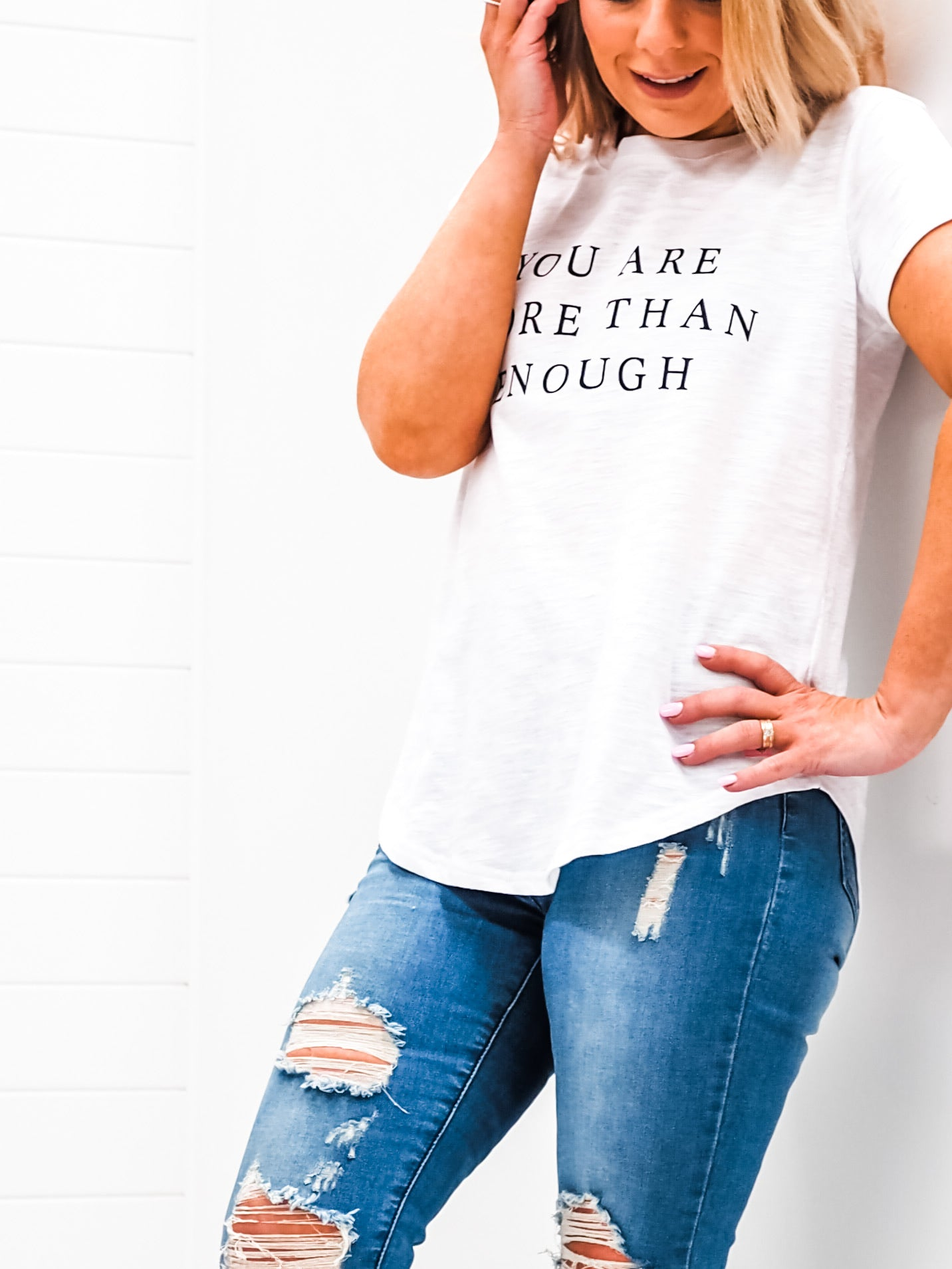More than Enough Tee - White