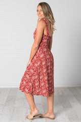 Stella Dress Red - Was $49.95