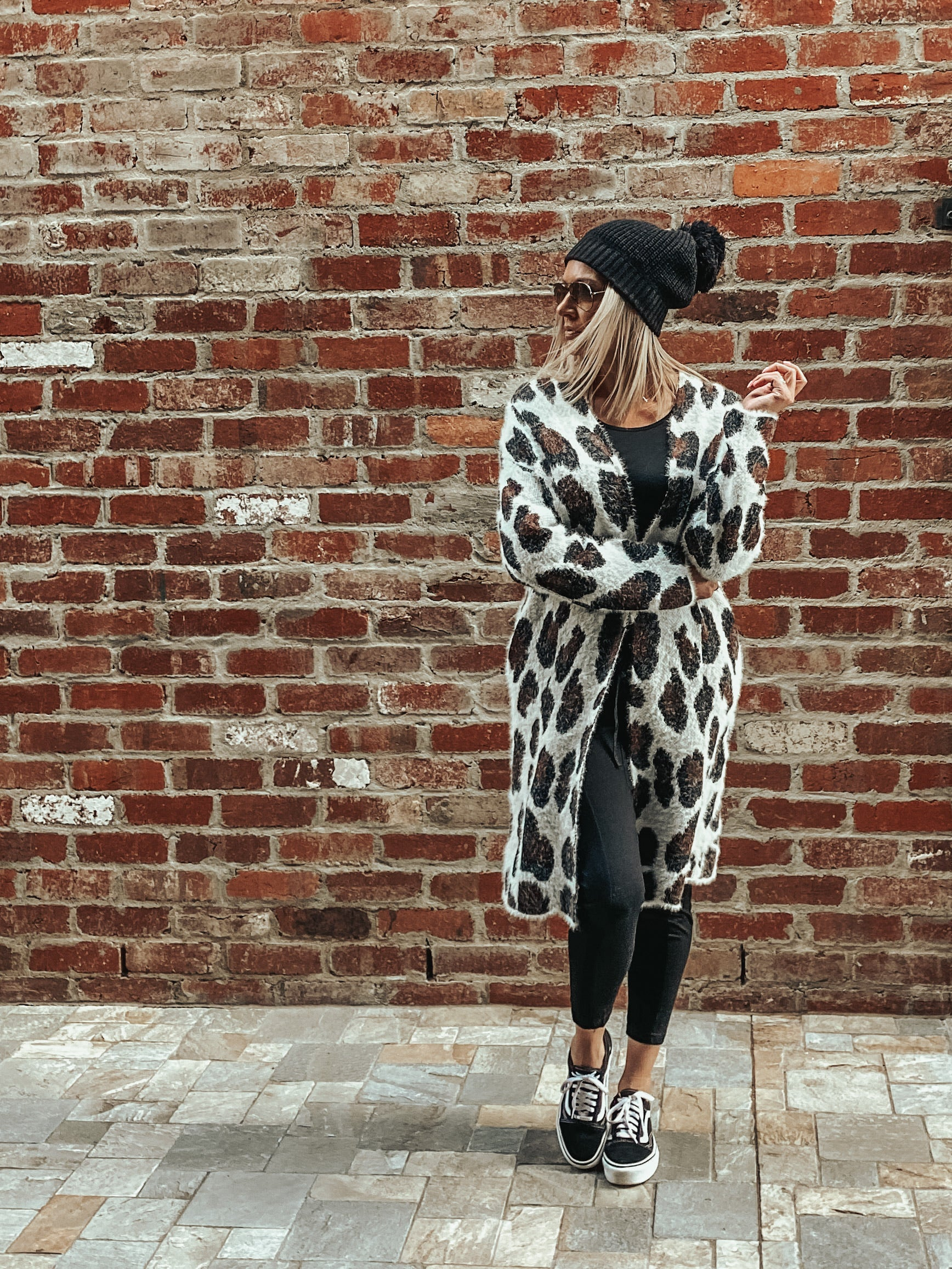 Logan Cardigan - Brown Leopard