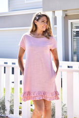 Ruffle Dress Pink - Was $59.95