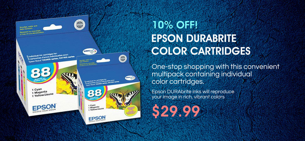 EPSON DURABRITE  COLOR CARTRIDGES
