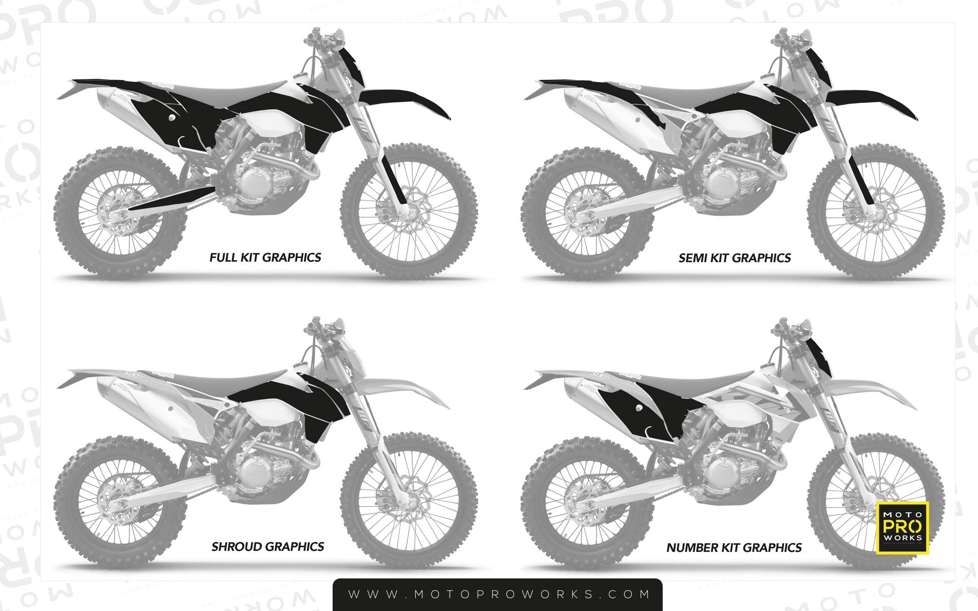 Graphic kit sizes MotoProWorks
