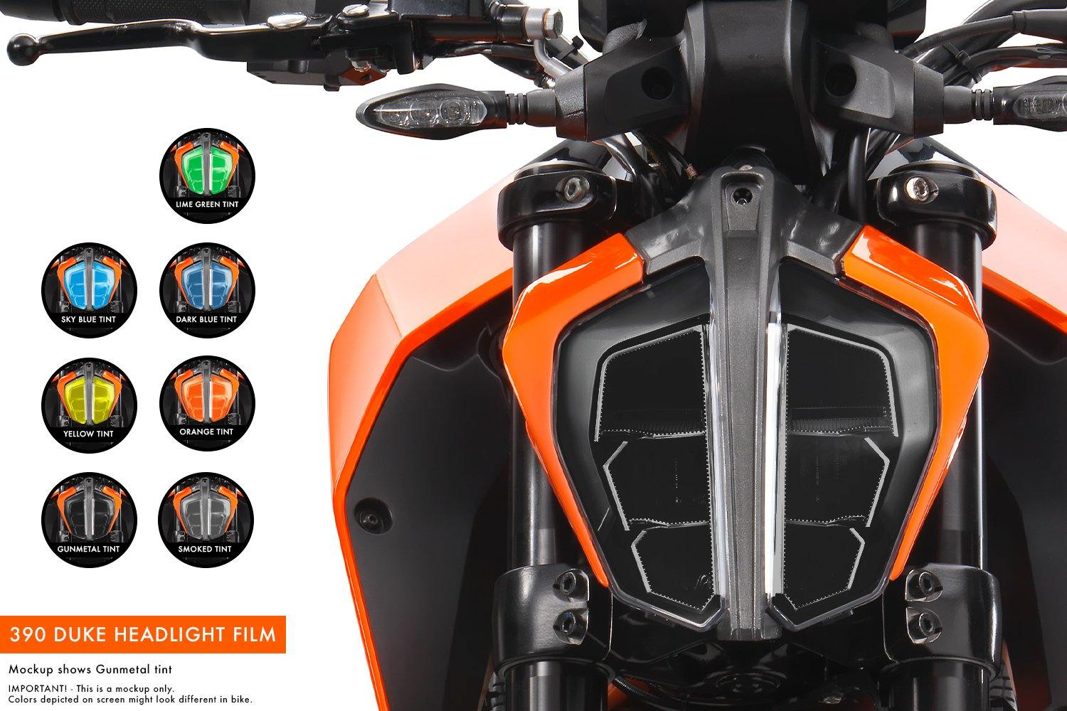 KTM 125/390 Duke (2017-2019) Premium Headlight tinted film