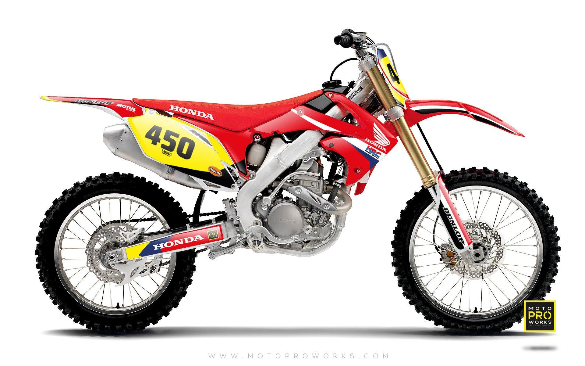 "Honda GRAPHIC KIT - ""REDRETRO"" (red) - MotoProWorks 