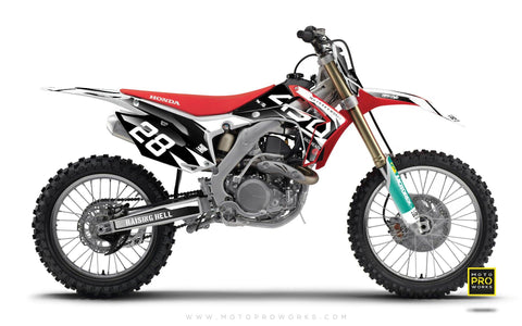 "Honda GRAPHIC KIT - ""BACKMONO"" - MotoProWorks 
