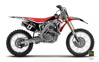 "Honda GRAPHIC KIT - ""M90"" (black) - MotoProWorks 