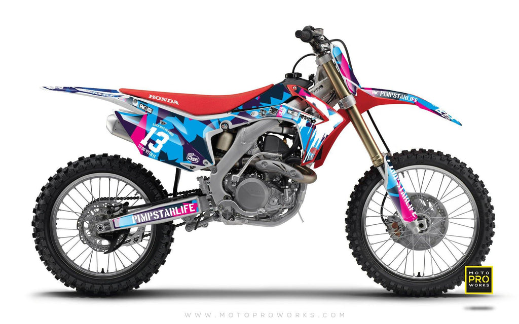 "Honda GRAPHIC KIT - ""M90"" (candy) - MotoProWorks 
