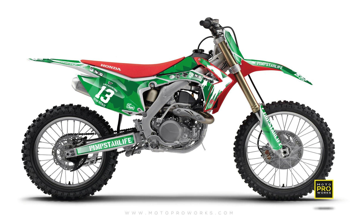 "Honda GRAPHIC KIT - ""M90"" (green) - MotoProWorks 