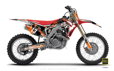 "Honda GRAPHIC KIT - ""M90"" (orange) - MotoProWorks 