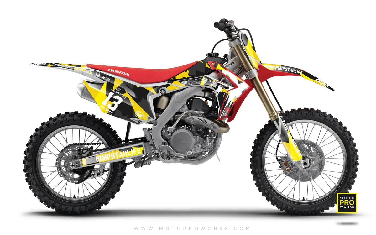 "Honda GRAPHIC KIT - ""M90"" (wasp) - MotoProWorks 