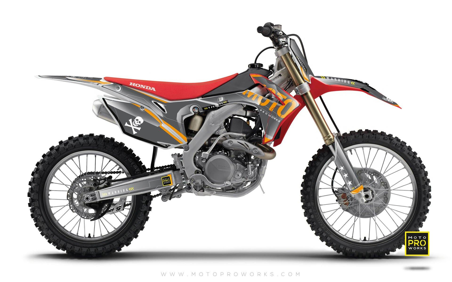"Honda GRAPHIC KIT - ""GTECH"" (dark) - MotoProWorks 