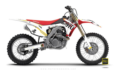 "Honda GRAPHIC KIT - ""GTECH"" (white) - MotoProWorks 