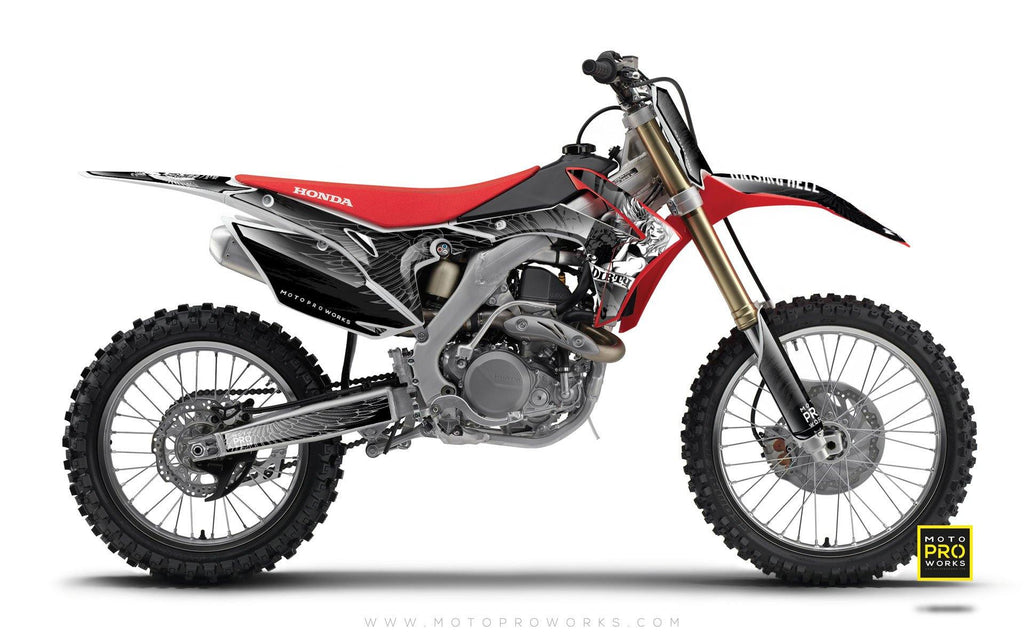 "Honda GRAPHIC KIT - ""DIRTY ANGEL"" (black) - MotoProWorks 