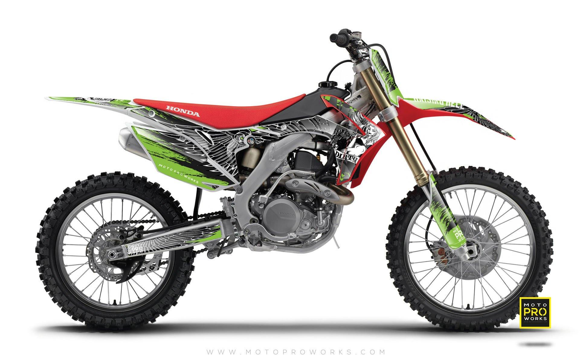 "Honda GRAPHIC KIT - ""DIRTY ANGEL"" (green) - MotoProWorks 